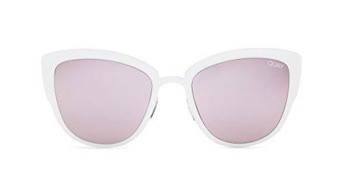 Quay Eyewear Damen Sonnenbrille Super Girl, White/Lila, 147