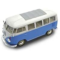 Welly 1 24 1962 Volkswagen Classic Bus T1 Samba Bus azul blanco 67a762847068