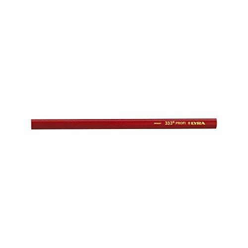LYRA Kennzeichnung, 333 Zimmermannstift - Zimmermanns Bleistift, 1 Stück im Karton, 24 cm, rot, 20 x 20 x 30 cm, 4332103