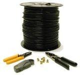 C2G 500ft RG6 Dual Shield Coaxial - coaxial cables (RG-6/U, Black)