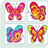 Girls Butterfly Tattoos Pack of 24 - Great Party Loot Bag Fillers