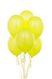 Party Anthem Party Anthem Metallic Latex Yellow Balloons