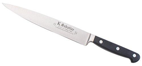 K Sabatier - Filet De Sole 21 Cm K Sabatier - Gamme Proxus - Acier Inoxydable - Manche Noir - 100% Forge - Entièrement Fabrique En France