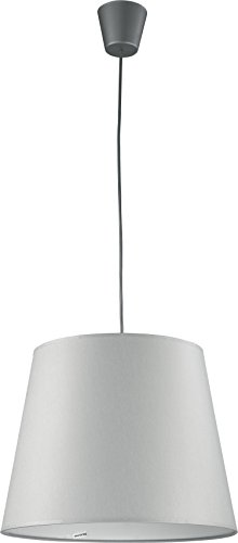Pendelleuchte Stoff Schirm Grau E27 Bauhaus Küchenlampe Hängeleuchte Hängelampe