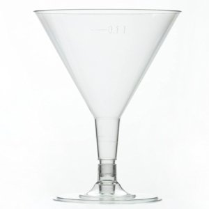 Clear Plastic Disposable Martini/Cocktail Glasses 160ml for Party/picnic/celebration 48 Pack
