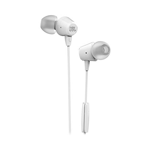 JBL C50HI Wired Earphones (White)