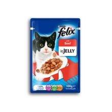 NESTLE Felix Pouch Beef Chunks En Jelly 100g paquet de 20