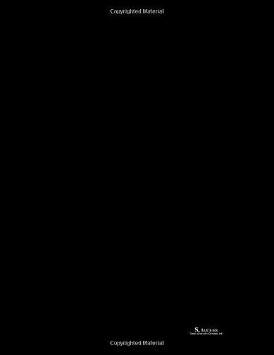 S. Bucher Tabulatur für Gitarre A41: Musik Notizbuch mit Tabulatur für Gitarre, Große TAB, 100 SEITEN, 21.59 x 27.94 cm = A4, Soft Cover Schwarz