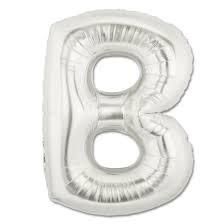 Party 24x7 Foil Balloon Alphabet Letter Toy Balloon Silver 17