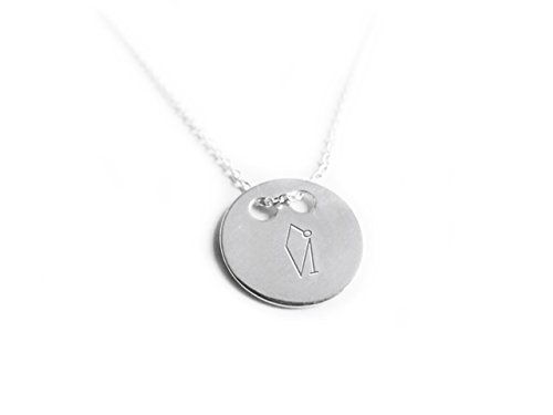 Mission-kette (Engel uriel- Sterling Silber 925Halskette–45cm–Erzengel von wisdom- Anhänger rund)