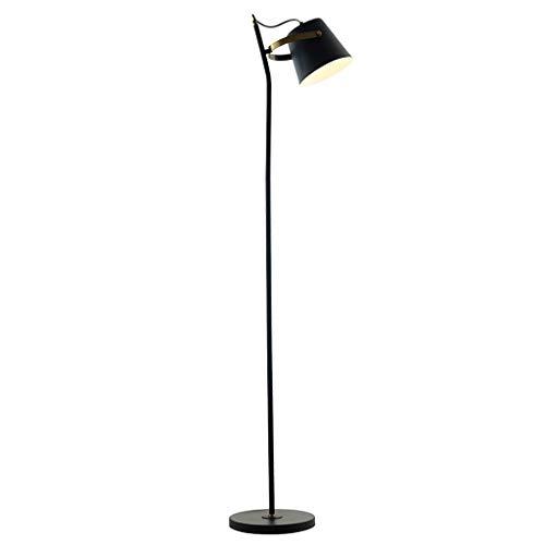 Iron Art Lámpara de pie Interruptor de pie DIY Lámpara de pie de lectura vertical Lámpara estándar Negro Torchieres Utilizado para la sala de estar Dormitorio