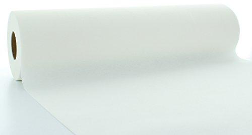�ufer aus Linclass® Airlaid 40 cm x 24 m, 1 Stück (Weiss) ()