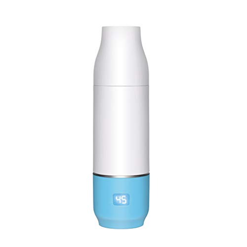 Scalda e raffredda biberon caldo latte usb mobile ricaricabile scalda-seno intelligente latte caldo uscire portatile latte regolatore costante latte caldo (color : blue, size : 7 * 7 * 24.6cm)
