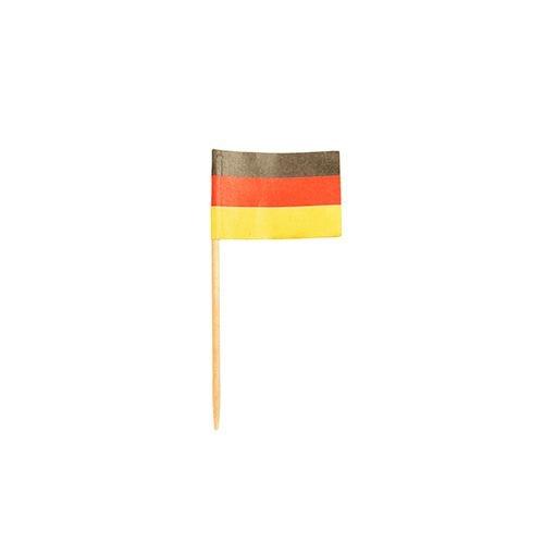 200 Deko-Picker 8 cm 'Deutschland' Flaggenpicker / Fahnenpicker / Partypicker
