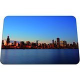 La Dame De Chicago - Beautiful Chicago Skyline- Mouse Pad - Gaming