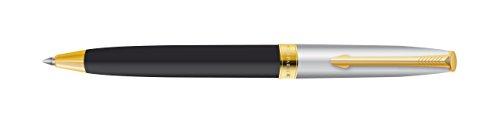 Luxor Spa (Parker Fusion Deluxe schwarz gold trim Kugelschreiber, Schreibfarbe blau)