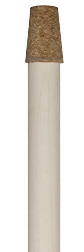 Windhager Rosenkugelstab mit Korkaufsatz, Holzstab für Gartenkugeln, für Rosenkugeln mit 12 -16 cm, natur, 100 x 1,6 cm, 07962