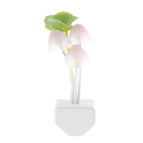 Features:100% Brand new and high qualityThe night light is environmental friendly and energy savingEasy to use, just put the plug in the socket and it's light sensor controlSimulation little mushroom and lotus leaf design,like a potted,very beautiful...