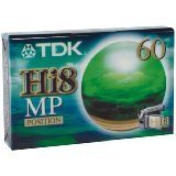 TDK-P-5-60-HI8-MP-Video-cassette-Confezione-da-1