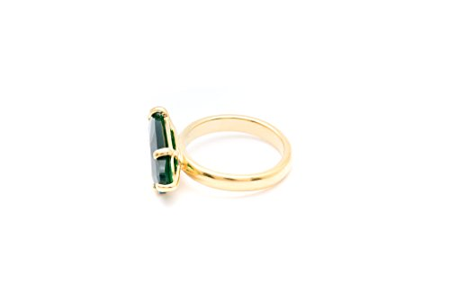 Wouters & Hendrix Femme Argent sterling plaqué or ovale Vert Agate Bague style
