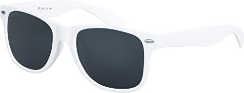Balinco Hochwertige Nerd Sonnenbrille Rubber im Wayfarer Stil Retro Vintage Unisex Brille mit...