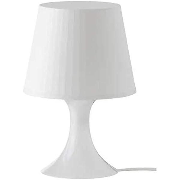 Ikea Lampada Da Tavolo Bianco 19 X 19 X 15 Cm Amazon It Illuminazione