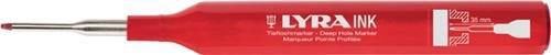 Tieflochmarker rot Minenschaft 35 mm mit Halteclip LYRA INK
