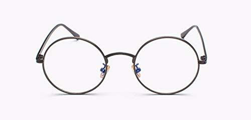 WSKPE Sonnenbrille Runder Spiegel Objektiv Sonnenbrillen Mode Frauen Männer Vintage Sonnenbrille Retro Farben Uv400 Brillen (Schwarzen Rahmen Transparent Spiegel)