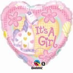 Pioneer Ballon Company IT S A GIRL Soft Pony Folienballon, 45,7cm Multicolor