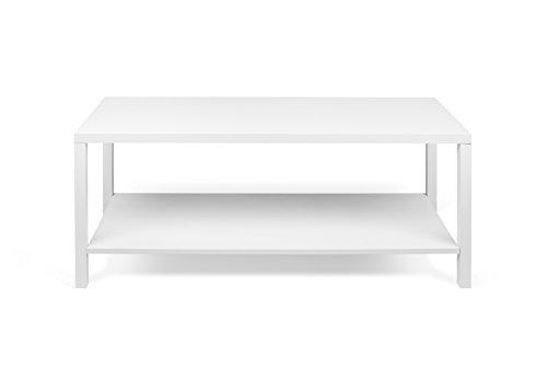 TemaHome Basics Table Basse, 104 x 40 x 45 cm, laqué Blanc Mat