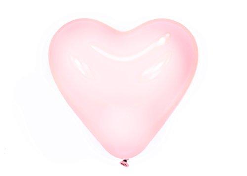 Trendario 100 x Herzluftballons, Helium Herz Luftballons, Herz Deko für Valentinstag Hochzeit Verlobung Geburtstag Baby Party (Rosa)