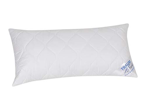 Traumnacht 4-Star Kopfkissen, weiches und bequemes aus Baumwollmischgewebe, 40 x 80 cm, waschbar, weiß