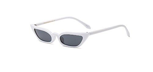Hykis Farbige S¨¹?igkeit Platz Hip-Hop-Frauen-Sonnenbrille-Dame-Fashion-Marken-Entwerfer-Gl?ser lila Rahmen UV400 Weibliche transparente Linse [wei?]