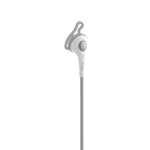 iLuv iEP415WHT Fit Active High Fidelity Sports Earphones with Speak EZ Remote for iPod/iPhone/iPad - White