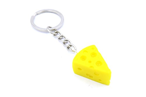 Käse Schlüsselanhänger Modeschmuck Silber-Farben