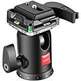 Neewer panoramique de trépied de tête de Boule de 360° de caméra vidéo avec 1/4Pouce Plaque de Sabot Rapide et Niveau de Bulle pour trépied Monopode caméra DSLR caméscope