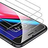 UNBREAKcable iPhone 8 Plus/7 Plus Panzerglas [3 Stück] Kompatibel mit iPhone 8 Plus/7 Plus, 9H Härte Panzerglasfolie, 2.5D Displayschutzfolie, 3D-Touch, Anti-Bläschen, Anti-Kratzer