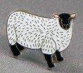 Agneau Purse - Broche en métal émaillé Motif mouton-agneau (brebis