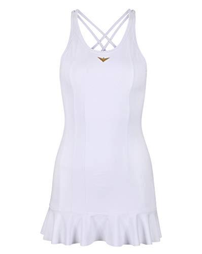 Bace Mädchen Tenniskleid weiß Mädchen Golf Kleid Junior Tennis Kleid Mädchen Sportswear, weiß, 10-11 Years Old
