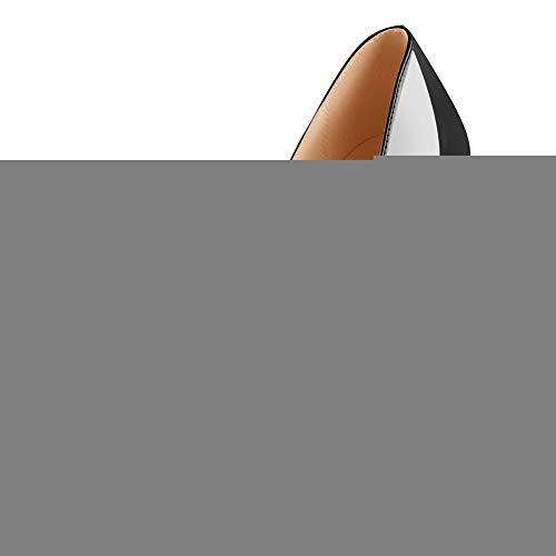 Onlymaker Damenschuhe High Heels Peep Toe Lack Pumps Lackleder Schwarz EU46