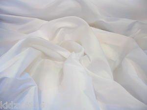 Fabrics Online UK Weiß Kunstseide Taft Brautjungfern Kleid Vorhang, Raffrollo Stoff 150cm–Stoff ist von der Meter (Brautjungfer Taft Kleider)