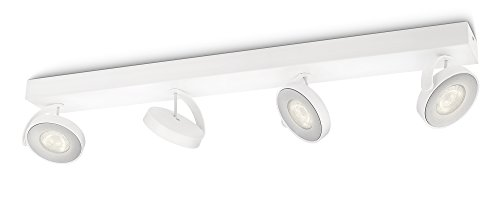 Philips myLiving Clockwork - Barra de 4 focos LED, iluminación interior, aluminio,...