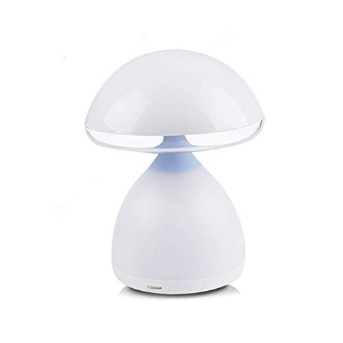 Decdeal lampara Bebe Noche Mushroom Night Light Recargable Noche Colorida LED Lindo Luces de Humor para niños Baby Nursery Dormitorio