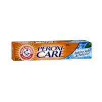 ARM & HAMMER PeroxiCare Tartar Control Toothpaste Baking Soda & Peroxide, Fresh Mint 6 Ounce (Pack of 4)