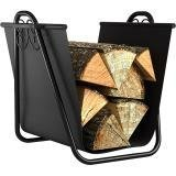 Log Bin (Panacea Log Bin w Scrolls Tote Black by Open Hearth)