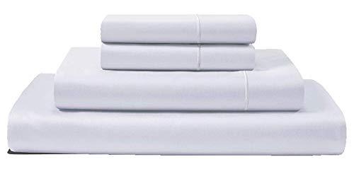 100% ägyptische Baumwolle Matratze Tabelle-Set massiv Muster 700Fadenzahl 1Stück Spannbetttuch & 2Stück Kissen (3Stück nur) 38,1cm Deep Pocket alle Größen & Farben., baumwolle, weiß, Queen - 2 Stück Set Matratze