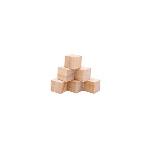 BESPORTBLE 50 Stücke Natürliche Farbe Kleine Holzhandwerk Würfel Präzise Schneiden Holz Quadrat Blöcke für Handwerk und DIY Projekte (15mm Birke Block) (Holz-blöcke Handwerk Für)