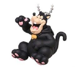 Disney Halloween Black Cat Mascot Swing Keychain~Pete