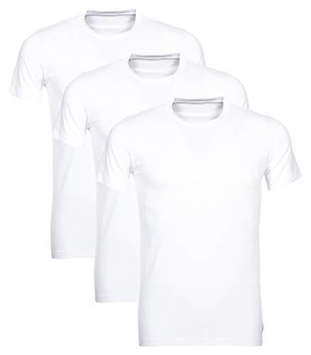 Polo Ralph Lauren 3er Pack Herren T-Shirts, Rundhals (L, Weiß)