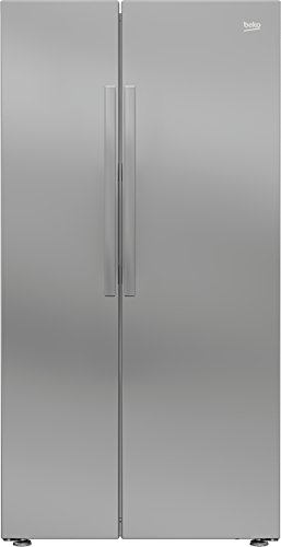 Beko RAS121L USA Style Fridge Freezer - Silver Best Price and Cheapest